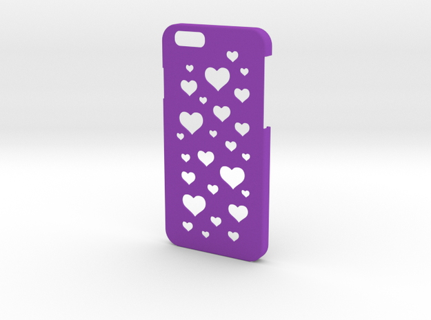 Iphone 6  case with hearts in Purple Processed Versatile Plastic