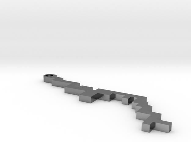 Maze Pendant 3 in Premium Silver