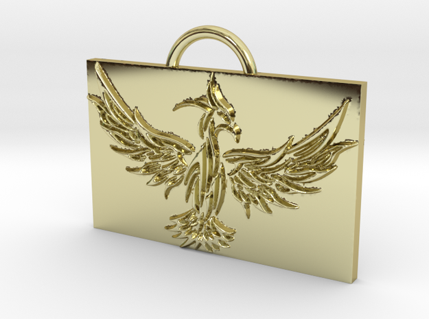 Phoenix in Flight in 18k Gold Plated Brass