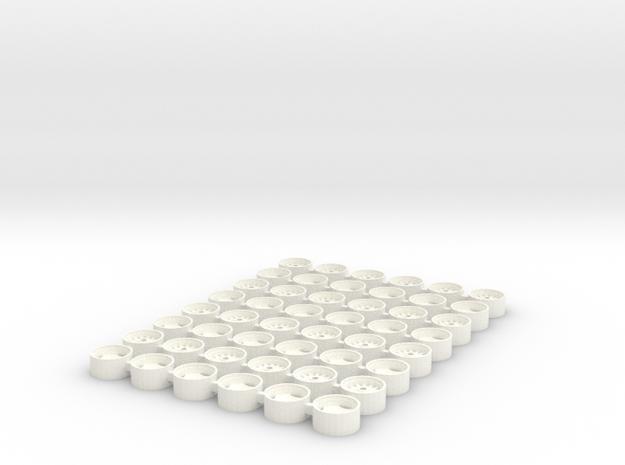 1/64 Allis Chalmers (Old Version) 7000 Series Rims in White Processed Versatile Plastic