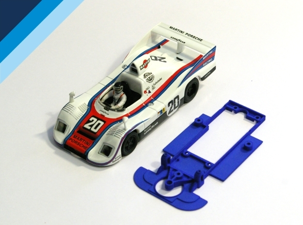 1/32 Spirit Porsche 936 Chassis for Slot.it pod in Blue Strong & Flexible Polished
