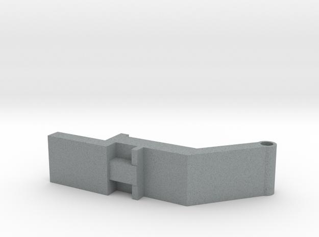 Bunn-toggle in Polished Metallic Plastic