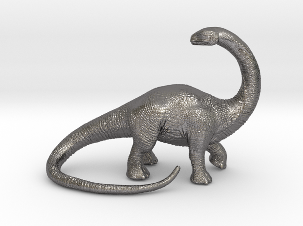 Brontosaurus Game Piece  in Polished Nickel Steel