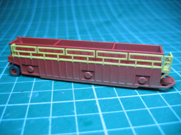 N scale 1/160 Frac Tank 18000 gal Open Weir in Smooth Fine Detail Plastic