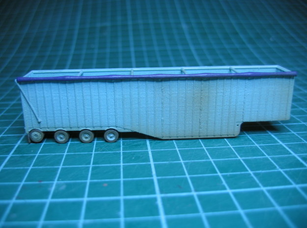 N scale 1/160 Woodchip trailer 53ft possum-belly in Smooth Fine Detail Plastic