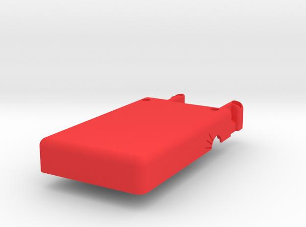 Mobius Case - Bottom Flat in Red Processed Versatile Plastic