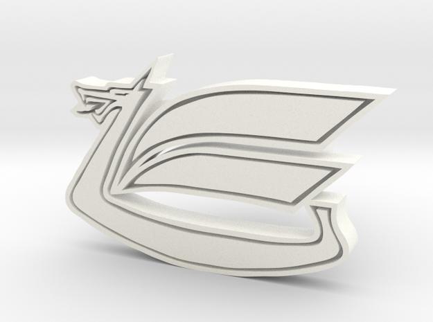 Celica Dragon Cufflink in White Processed Versatile Plastic