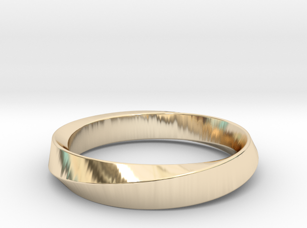 iRiffle Mobius Narrow Ring I (Size 5) in 14k Gold Plated Brass