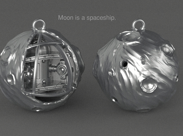Moon is a spaceship in Natural Silver