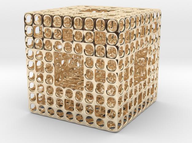 Menger Wire Sponge  in 14K Gold