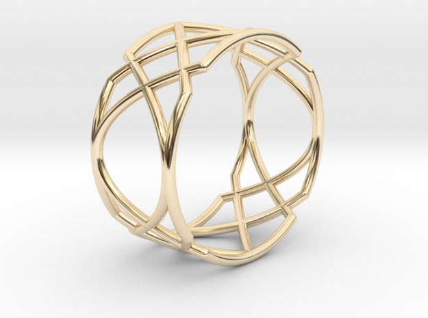 22 Ring 17,20mm in 14K Yellow Gold