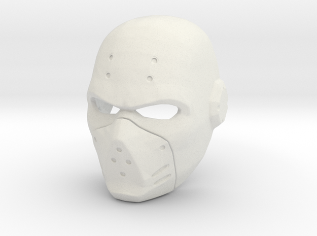 Azrael mask from Batman: Arkham City in White Strong & Flexible