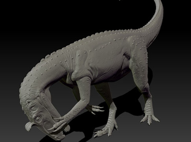 1/72 Cryolophosaurus - Preening 3d printed Zbrush render of final sculpt