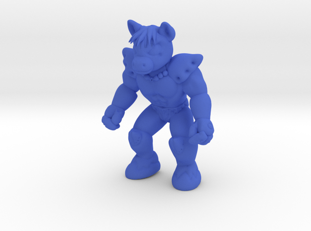 Bronar the Barbarian in Blue Processed Versatile Plastic