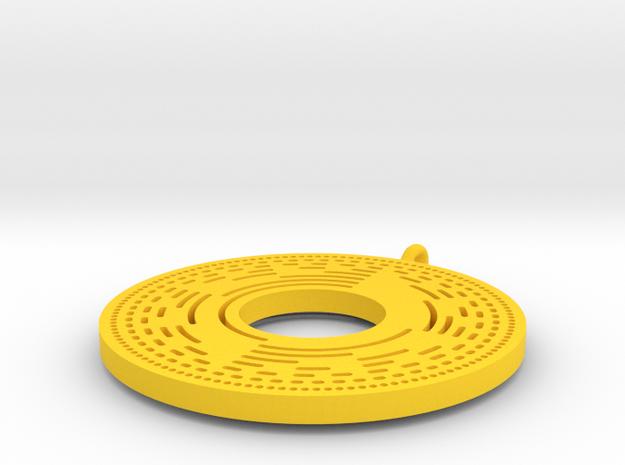 BitWheel Pendant 3d printed
