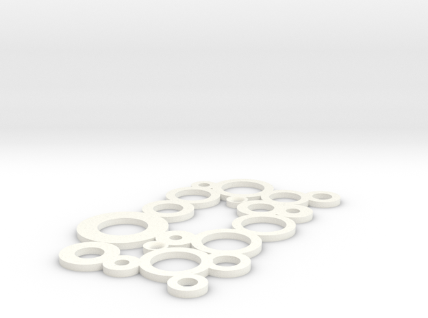 Decorative Switch Plate - Circles in White Processed Versatile Plastic