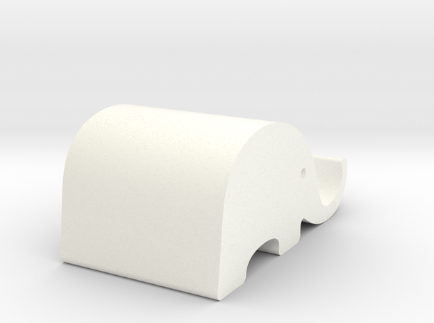 Elephant Phone Stand - Xansibar Design in White Strong & Flexible Polished