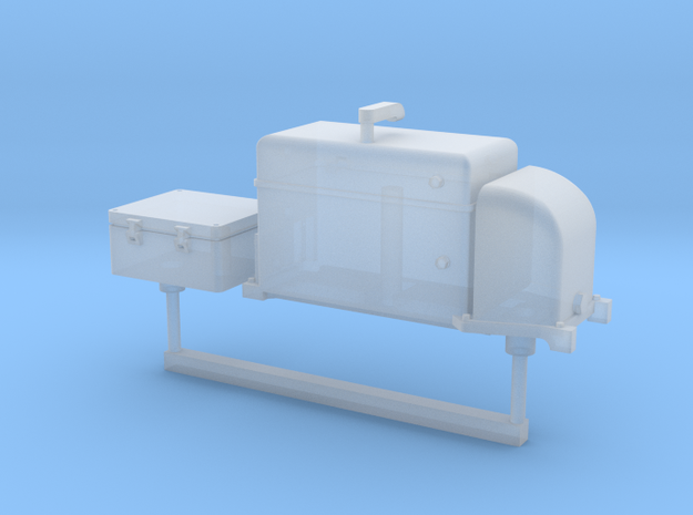 RhB Station Accessories - Assy 1 in Frosted Ultra Detail