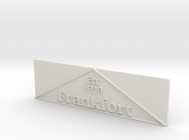 1:24 Frankfort Triangle 2 in White Natural Versatile Plastic