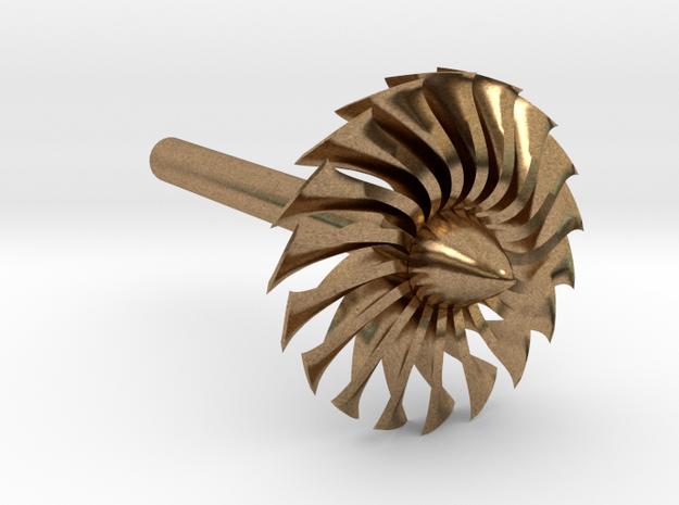 Jet Engine Desk Display [Fan] in Natural Brass