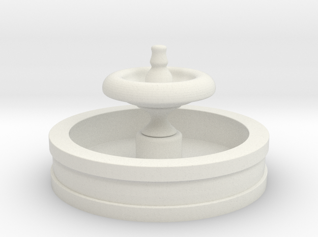 HO Scale Fountain in White Natural Versatile Plastic