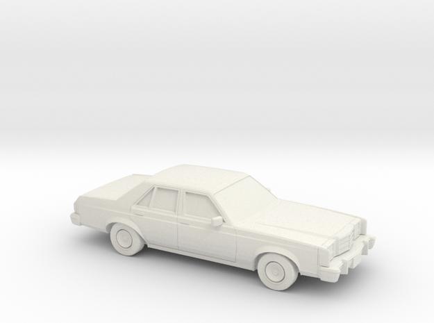 1/87 1978-80 Ford Granada Sedan in White Strong & Flexible