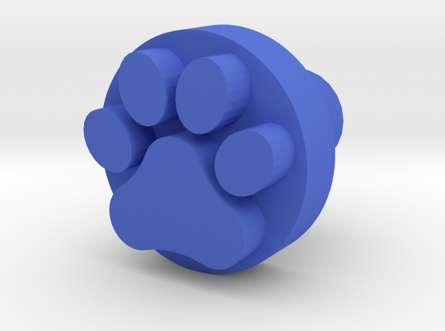 Dog paw footprint stamp, for leatherwork and stamp in Blue Processed Versatile Plastic