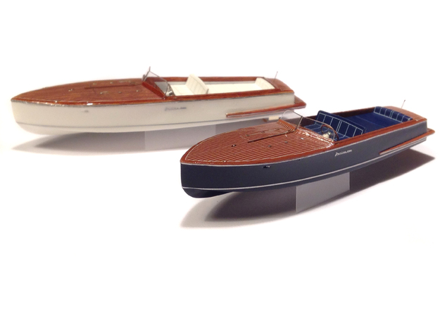 1/87 Julika 660 - wooden runabout electro-speedboa in Frosted Ultra Detail