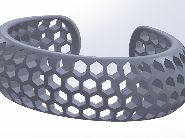 Honey Comb Bracelet 3d printed
