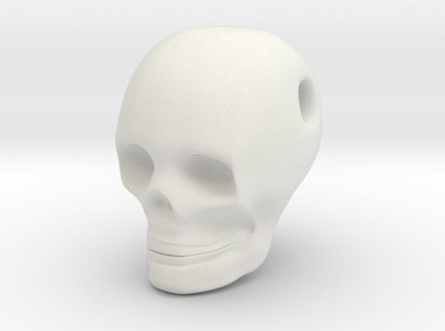 Skull Pendant in White Strong & Flexible