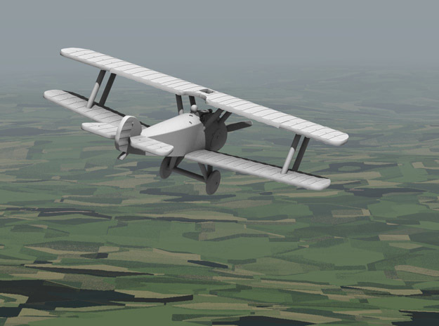 Sopwith Camel in White Strong & Flexible: 1:144
