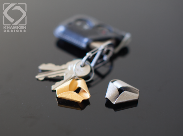 Mobius Triangle Charm (Small) in Matte Gold Steel