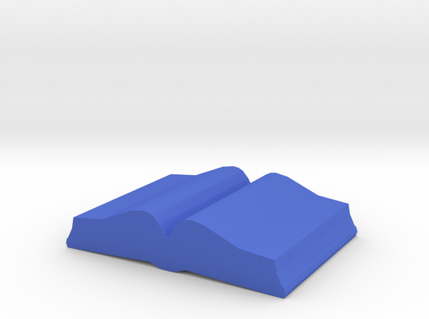 Game Piece, Book, open in Blue Processed Versatile Plastic