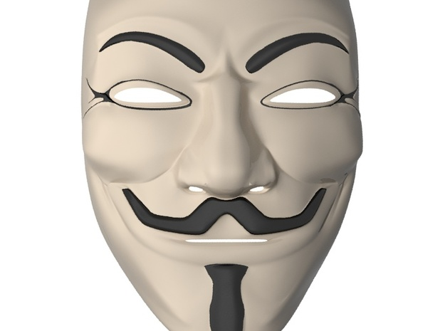 Guy Fawkes Mask 3d printed