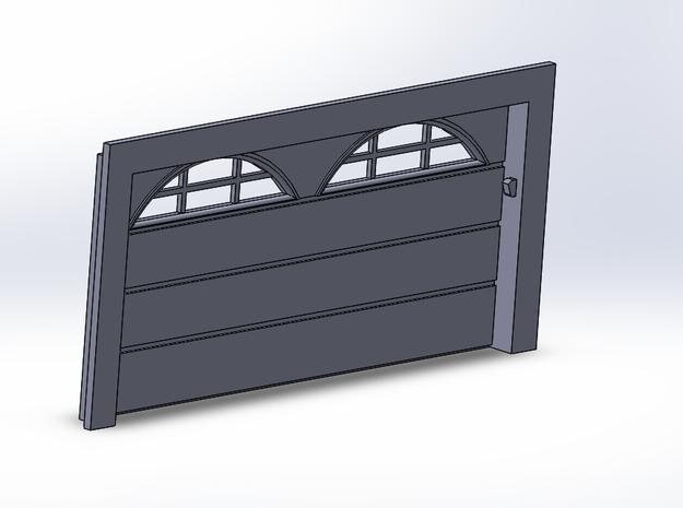 Double Car Residential - Arch Windows in Smooth Fine Detail Plastic