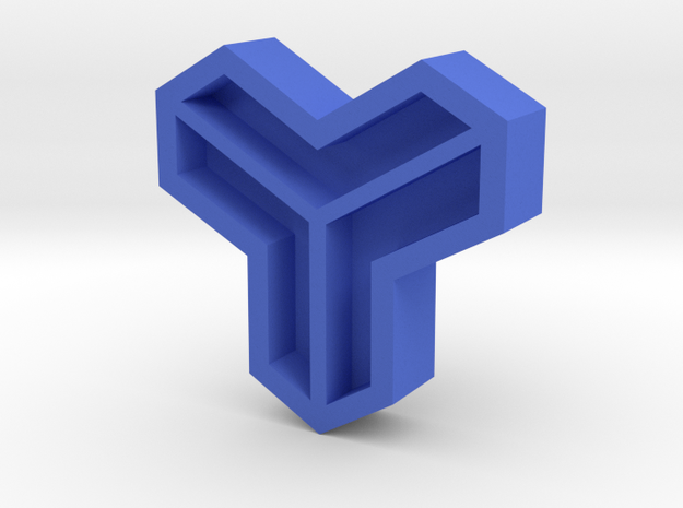 Leather stamp 16, MC Escher geometrical pattern in Blue Processed Versatile Plastic