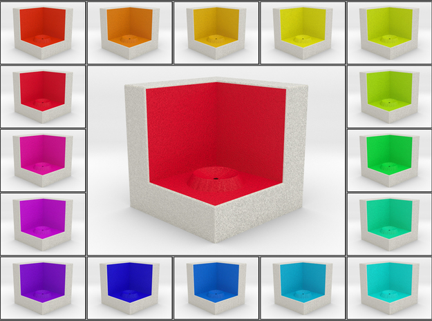 LuminOrb 1.1 - Cube Stand in Full Color Sandstone