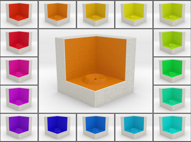 LuminOrb 1.4 - Cube Stand in Full Color Sandstone
