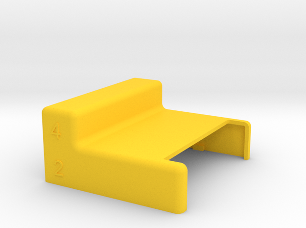 Commodore Chameleon 64 Dock Case No keyboard ports in Yellow Processed Versatile Plastic