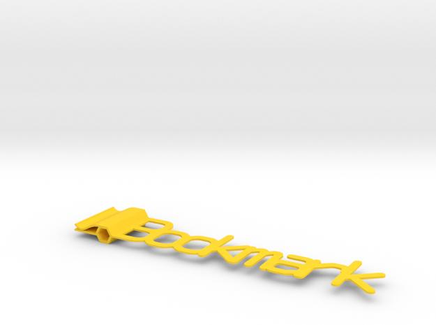 Generic Bookmark  in Yellow Processed Versatile Plastic