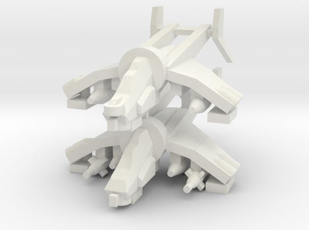 [5] Gunship (Target Designator), Gunship (Bunker B in White Natural Versatile Plastic