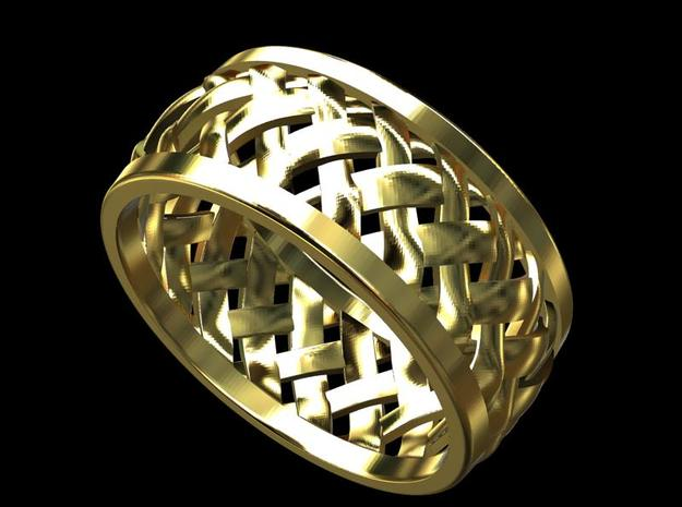 Weave Wedding Band - CCW4 3d printed