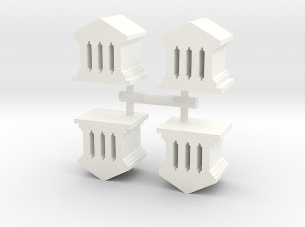 Game Piece, Roman Temple, 4-set