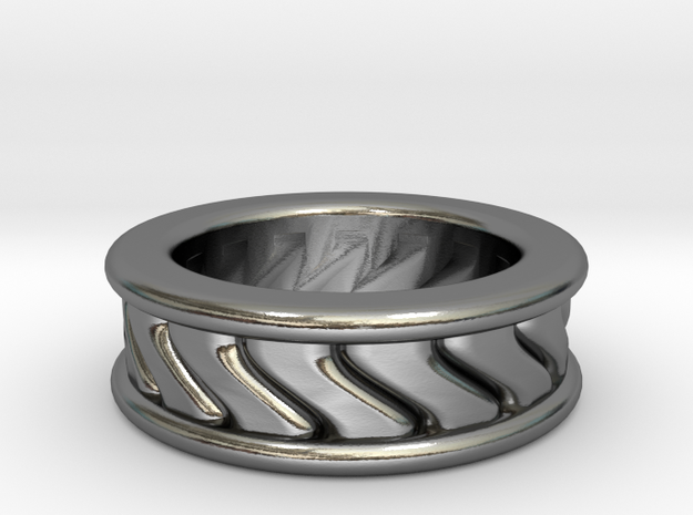 Chunky Vortex Ring in Polished Silver