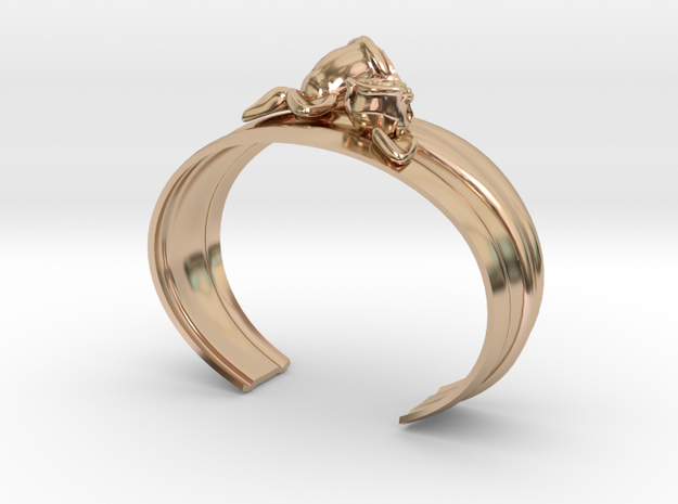 Bracelet with roses in 14k Rose Gold Plated