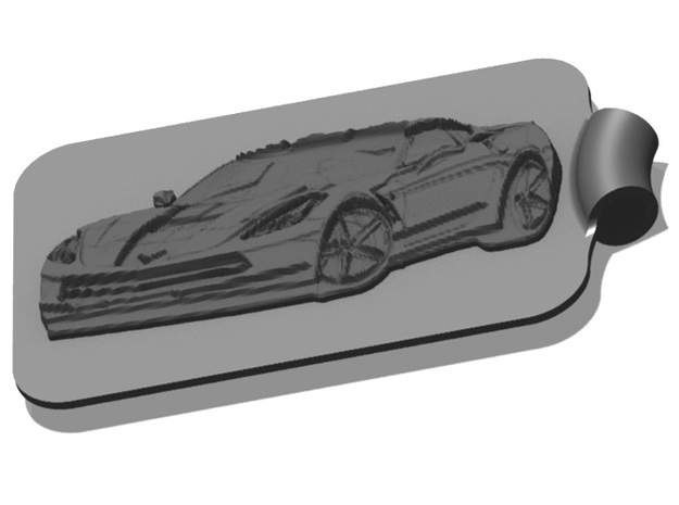Corvette Key Fob 1 3d printed