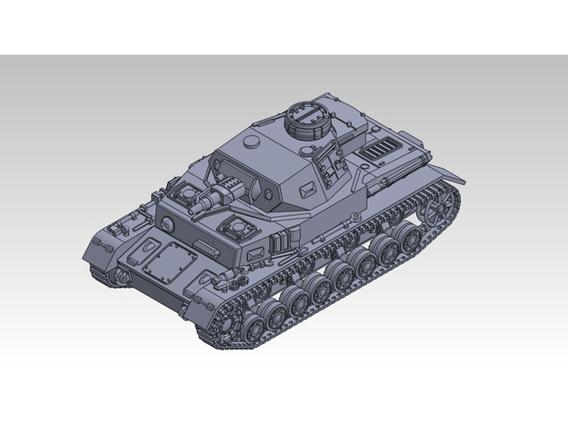 1/87 PzKpfw IV ausf.F in Smooth Fine Detail Plastic