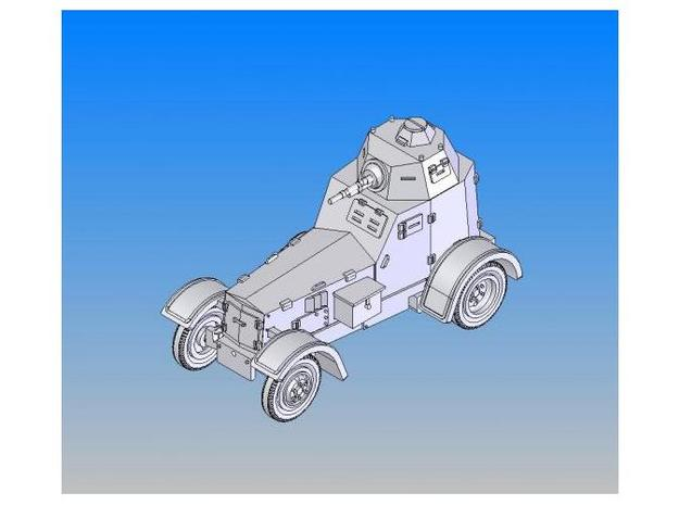 1/87 Polish ARMOURED CAR Wz.34-II 3d printed