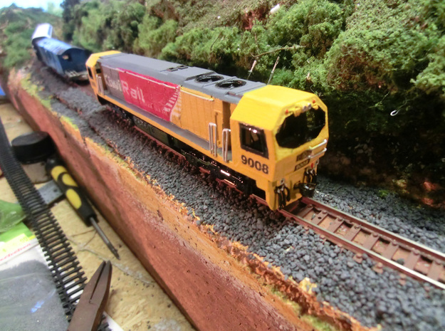 NZ120 KIWIRAIL DL CLASS incl Bogie Sideframes 3d printed Printed in FUD, handrails, airhoses & couplers added