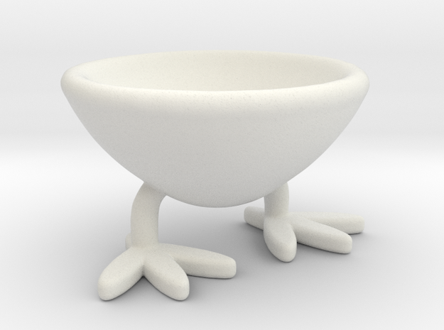 Two-legged Coquetier in White Natural Versatile Plastic